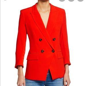 New Veronica Beard Lonny Dickey Jacke Jacket Red